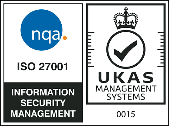 画像: nqa. ISO 27001 Infomation Security Management. UKAS Managiment Systems. 015